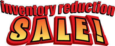 Vendita di riduzione di inventario! fotografia stock