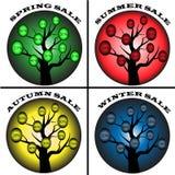 Vendita di stagioni degli alberi Immagini Stock Libere da Diritti