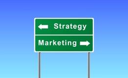 Vendita di strategia del segno. Immagini Stock