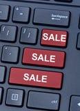 Vendita di vendita di vendita sulla tastiera di computer Immagine Stock
