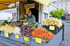 Vendita di verdure di estate Immagini Stock Libere da Diritti