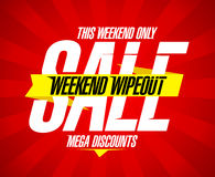 Vendita di wipeout di fine settimana Immagini Stock