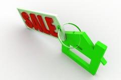 vendita domestica 3d Fotografia Stock Libera da Diritti