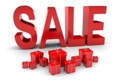 Vendita e presente rossi Fotografie Stock