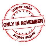 Vendita eccellente soltanto a novembre Immagini Stock Libere da Diritti