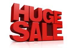 vendita enorme del testo rosso 3D illustrazione di stock