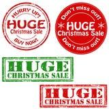 Vendita enorme di Natale Fotografia Stock Libera da Diritti
