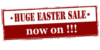 Vendita enorme di Pasqua ora sopra royalty illustrazione gratis