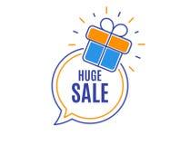 Vendita enorme Segno di prezzi di offerta speciale Vettore illustrazione vettoriale