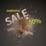 Vendita esplosiva Illustrazione di vettore Fotografie Stock Libere da Diritti