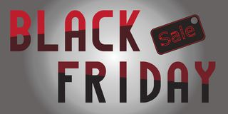 Vendita-evento di Black Friday illustrazione di stock