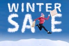Vendita felice di inverno Fotografie Stock Libere da Diritti