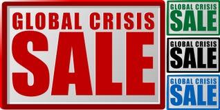 Vendita globale di crisi Fotografie Stock