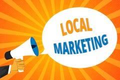Vendita locale del testo della scrittura Concetto che significa affare locale di A dove un affare e una vendita del prodotto nell illustrazione vettoriale