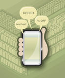 Vendita mobile del cliente Immagine Stock Libera da Diritti