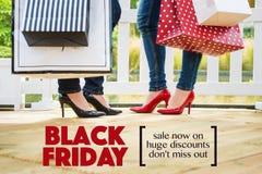 Vendita nera di venerdì fotografie stock