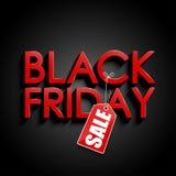 Vendita nera di venerdì Fotografia Stock
