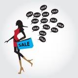 Vendita nera di venerdì per l'annuncio pubblicitario e gli annunci Fotografia Stock