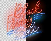 Vendita nera di venerdì Segno al neon Immagini Stock