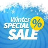 Vendita speciale di inverno Immagine Stock