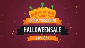 Vendita spettrale 20 di Halloween di sconto fuori dal fondo del metraggio royalty illustrazione gratis
