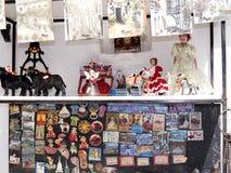 Vendita turistica del frp degli oggetti a Mijas su Costa Del Sol Andalucia, Spagna Fotografia Stock Libera da Diritti