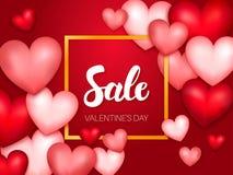 Vendita Valentine Day Banner Fotografie Stock