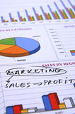 Vendita, vendite e profitto Fotografia Stock Libera da Diritti