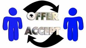 Vendite accettate Person Deal del cliente della gente di offerta Fotografie Stock Libere da Diritti