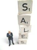Vendite che vanno in su Immagini Stock