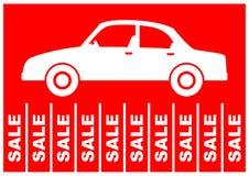 Vendite dell'automobile dell'annuncio Fotografie Stock Libere da Diritti