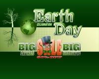 Vendite della celebrazione di giorno di terra, evento commerciale illustrazione di stock
