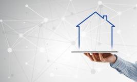 Vendite della proprietà e del bene immobile Fotografia Stock