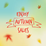 Vendite di autunno Fotografia Stock Libera da Diritti