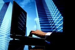 Vendite di cyber di agente immobiliare Immagini Stock Libere da Diritti