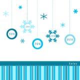 Vendite di inverno Fotografia Stock