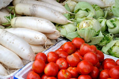 Vendite di Maketing, verdura fresca Fotografia Stock Libera da Diritti