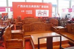 Vendite di mostra della mobilia del palissandro Fotografie Stock
