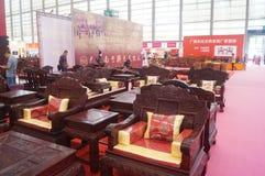 Vendite di mostra della mobilia del palissandro Fotografie Stock Libere da Diritti