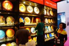 Vendite di mostra della porcellana della Cina Fotografie Stock