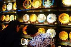 Vendite di mostra della porcellana della Cina Fotografia Stock Libera da Diritti