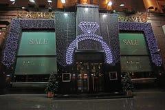 Vendite di Natale e del nuovo anno a Mosca Fotografia Stock