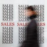 Vendite di stagione Fotografia Stock Libera da Diritti