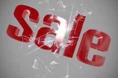 Vendite di tridimensionale Fotografia Stock