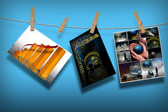 Vendite di vendita su una riga Fotografia Stock