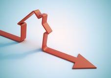 Vendite domestiche di caduta Immagini Stock