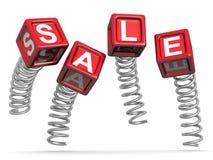 Vendite e salto di concetto di promozione Immagine Stock Libera da Diritti