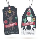 Vendite Hang Tags di Natale Immagine Stock Libera da Diritti