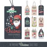 Vendite Hang Tags di Natale Fotografia Stock