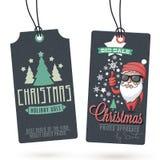 Vendite Hang Tags di Natale Fotografie Stock